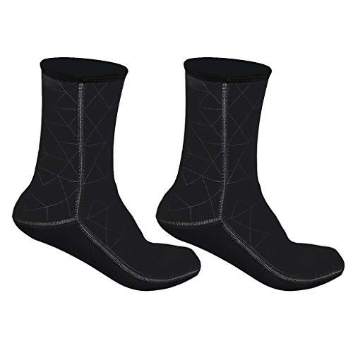 #N/A - Botas de buceo con calcetín de buceo, Negro XL, X-Large