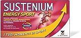 Sustenium Energy Sport - Integratore per sportivi a base di Sali Minerali com Carnitina, Taurina, Glutammina, Vitamina C, Vitamina e Zinco, com Zuccheri ed edulcorante, 10 Bustine da 21.2 grammi