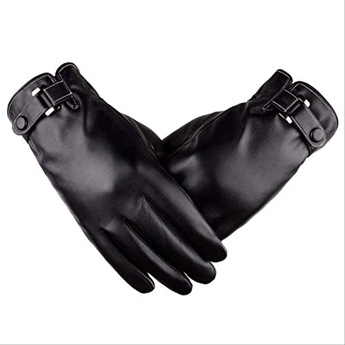 ZFMDST Touch Sreen Men Winter Gloves PU Men's Winter Luvas De Inverno...