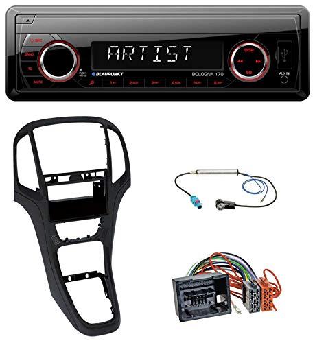 caraudio24 Blaupunkt Bologna 170 SD USB 1DIN MP3 AUX Autoradio für Opel Astra J ab 2009 Perl schwarz
