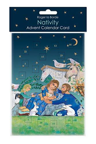 Roger la Borde Adventskalender Karte Weihnachten Christlich Jesus 17x12cm