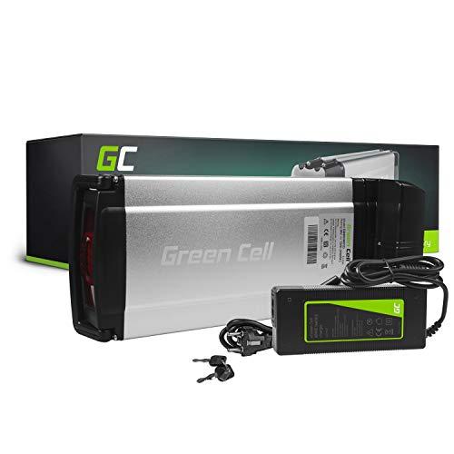 GC® Bateria Bicicleta Electrica 36V 12Ah Rear Rack Li-Ion Ebike Batería y Cargador