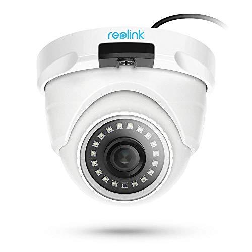Reolink 4MP HD Telecamera IP Poe Esterno, Videocamera Sorveglianza Interno Poe Supporta l'Audio, Telecamera di Sorveglianza Funziona Solo con NVR, D400