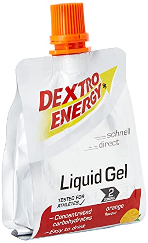 Dextro Energy Sport Gel | 1 x 60ml Liquid Gel Orange zum Trinken | Ideal fürs Workout | Liquid Gel mit Dextrose | Glutenfrei & Laktosefrei