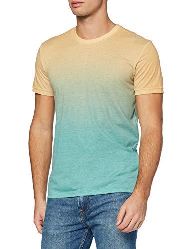 CMP T-Shirt con Colore Sfumato, Uomo, Herbal-Mint, 52