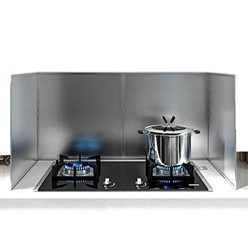 Protector antisalpicaduras de cocina Aceite echada a un lado de la salpicadura de la cocina del protector anti salpicadura de acero inoxidable del protector del petróleo Guardabarros cubierta de la pa