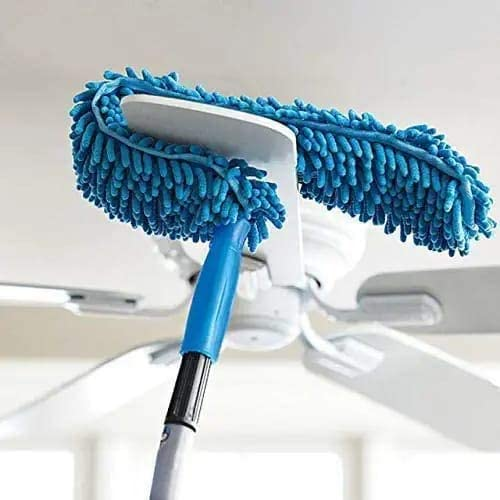HND Enterprise Flexible Microfiber Cleaning Duster For Home Kitchen Car Ceiling And Fan Dusting With Stainless Steel Extendable Handle