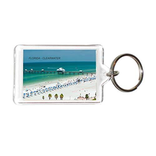 Florida USA United States Acrylic Keychains KeyRings Holders (1 Piece, Style: Clear Water #FL38)