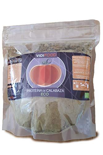 Proteína de Calabaza ECO en Polvo | 1kg | Aumento de masa muscular y energía | 60% de proteína | Alto contenido en Zinc, Hierro, Cobre, Manganeso y Magnesio | Apto para Veganos | Sabor Neutro