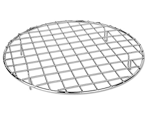 bafvt BBQ Accessories Grill Rack - 304 Stainless Steel Baking Cooking Round Rack for Rib Cookie Cakes, 10 Inches…