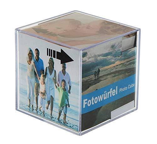 Cepewa GmbH 4 fotokubussen in set fotolijsten 9 x 9 x 9 cm voor 6 foto's acryl fotolijst