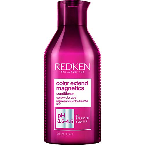 Redken Color Extend Magnetics Conditioner   For Color Treated Hair   Protects Color & Adds Shine   With Amino Acid   Sulfate-Free   8.5 Fl Oz, 10.1 fl. oz