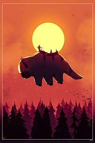 PosterHub Avatar HS-6065 Poster aus der Serie The Last Airbender, mattes Finish, mehrfarbig