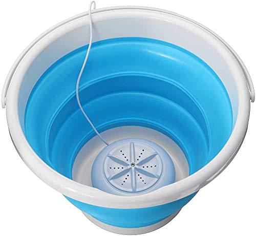 Lavadora portátil por ultrasonido, plegable, con USB, para viaje, camping, portátil, mini turbina, pala de lavado, aparatos de limpieza