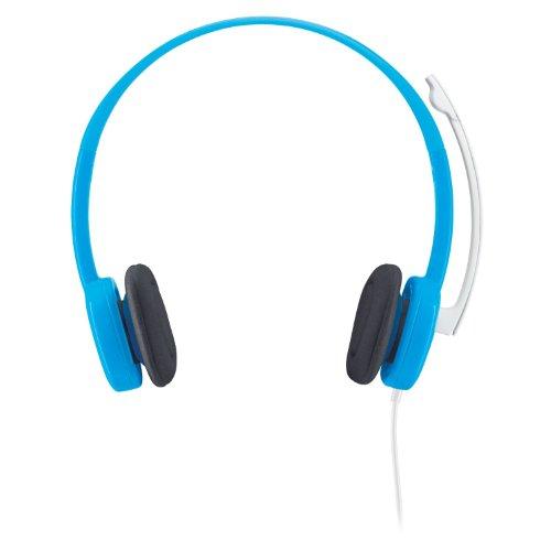 Logitech 981-000368 - Auriculares de Diadema Abiertos (Control Remoto Integrado, reducción de Ruido) Color Azul