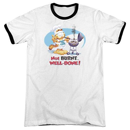 Garfield Das Herren-Wecker-T-Shirt der Männer, Medium, White/Black