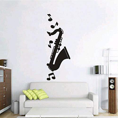 JXFM Saxofoon Note, gepersonaliseerd motief, Home Art, muursticker, 30 x 84 cm