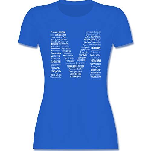 Muttertagsgeschenk - Mama Alleskönnerin - M - Royalblau - T-Shirt - L191 - Tailliertes Tshirt für Damen und Frauen T-Shirt