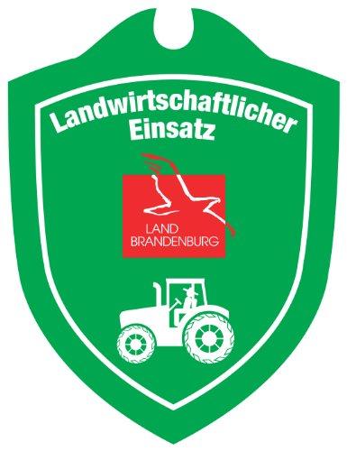 Waidmannsbruecke Unisex– Erwachsene Landwirtschaftlicher Einsatz Brandenburg Autoschild, Grün, 1 SZ