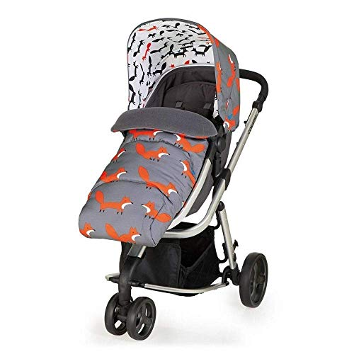 Cosatto Giggle Mix Pram & Pushchair – From Birth to 15kg, Lightweight, Duo-Directional Seat, Raincover, Fleece Apron, (Mister Fox)