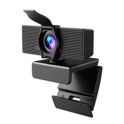 Webcam with Microphone & Privacy Cover, 2021 Upgraded 1080P HD Web Computer Camera, USB Plug and Play Laptop PC Desktop Camera, Works with Zoom, Skype, Teams, Video Conferencing Recording Streaming