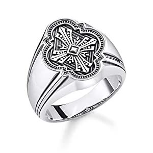 THOMAS SABO Unisex Ring Kreuz 925er Sterlingsilber, Geschwärzt TR2244-637-21