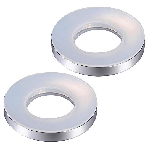 Yescom Bathroom Sink Mounting Ring Chrome Plating for Home Countertop Glass Vessel Sink Drain Mount Support 2 Pack