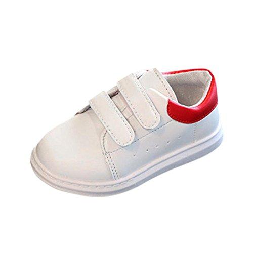 Btruely Sneaker Schuhe Baby Mode Mädchen Jungen Kleinkind Beiläufig Schuhe Sportschuhe (22, Rot)