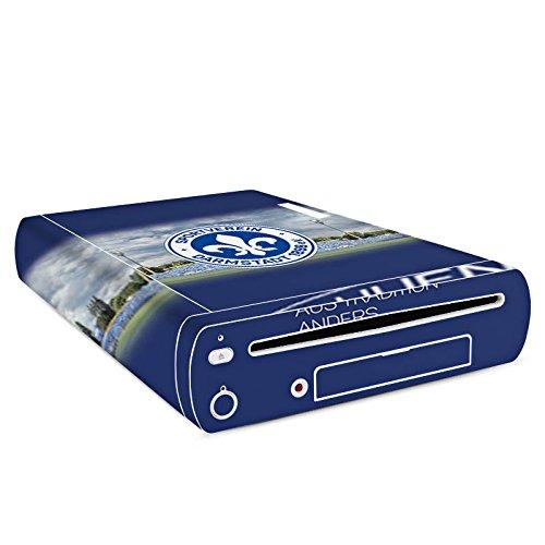 DeinDesign Skin Aufkleber Sticker Folie für Nintendo Wii U Konsole Sportverein Mannschaft Lilien