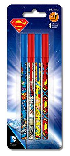DC Comics Superman Pens 4 pack