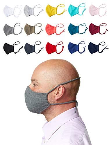 Enter the Complex® Mund und Nasenmaske zum Binden hinter dem Kopf, Waschbar bis 60 Grad, Baumwolle, Erwachsene (L), Anthrazit