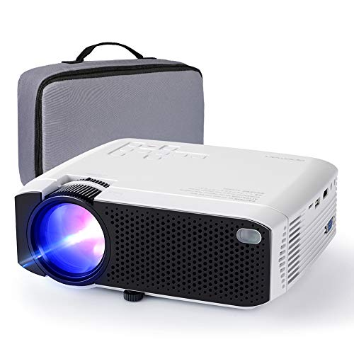 Mini Proiettore, [2022 Aggiornato] 1080P Supportato Videoproiettore
