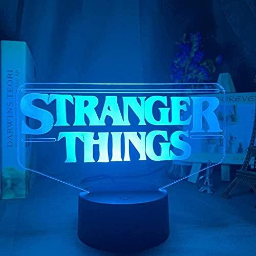 Lámpara de ilusión 3D LED de luz nocturna American Web TV Series extraño cosas para decoración del hogar Sensor táctil USB lámpara de mesa niños Navidad regalo de cumpleaños