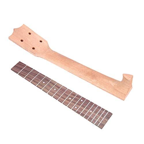kexinda Ukulele Holz Hals Griffbrett Set 4 Schnur-Gitarren-Parts Luthier DIY Fertigkeit-Zubehör, 26 Zoll
