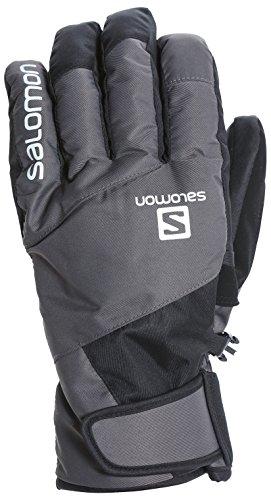 サロモン(SALOMON) スキーグローブ メンズ JP SALOMON LOGO GLOVE Forged Iron/Black XLサイズ L40287400