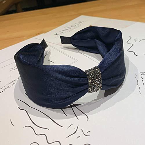 Tony plate Bandeau Coréen Strass Diamant Bandeau Couleur Unie Satin Noué Bandeaux Lunette pour Filles Femmes Cheveux Cerceau Bandes Cheveux Accessoire