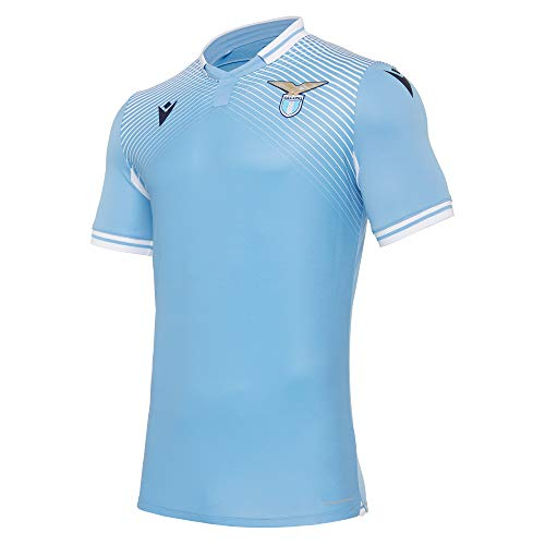 Macron Article de fan SS Lazio Rome - SSL Série A - Maillot domicile 20-21 - Vêtement haut en jersey - Unisexe - Saison 2020-2021 - Adulte - Taille L