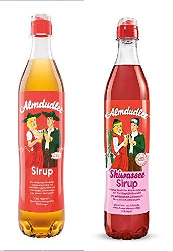 3 Flaschen Almdudler Sirup + 3 Flaschen Almdudler Skiwasser Sirup