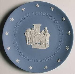 "Wedgwood Blue Jasper American Bicentennial Commemorative Plate ""The Declaration Signed"""
