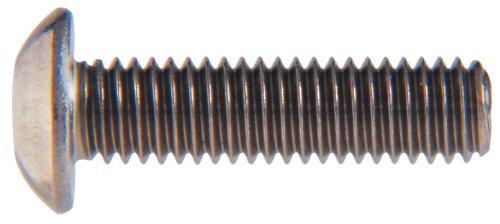 Le groupe Hillman 44489 M8–1.25 x 20 métriques en acier inoxydable Bouton Douille Bouchon à vis, 8-pack