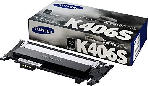 Samsung CLT-C406S/ELS Original Toner (Kompatibel mit: CLP-360/CLP-365 CLX-3300/CLX-3305/ C410W C460W C460FW) cyan