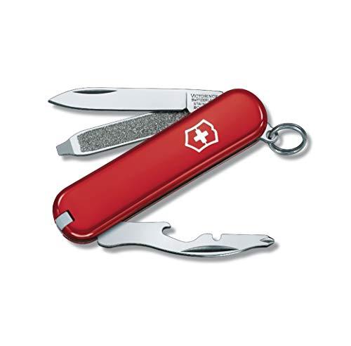 Victorinox Rally Klein Taschenmesser, 9 Funktionen, Schraubendreher, Flaschenöffner, rot