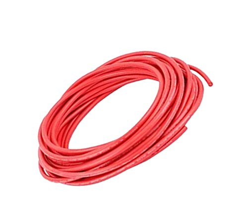 XJS Electric Copper Core Flexible Silicone Wire Cable Red (14AWG 30KV) (2M)