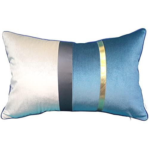 QMZ Fundas de Cojines Funda de Almohada CuadradaAzul Oscuro,Color café,Gris Oscuro,línea púrpura (sin núcleo) Accesorios de decoración de sofá Minimalista Moderno60cm
