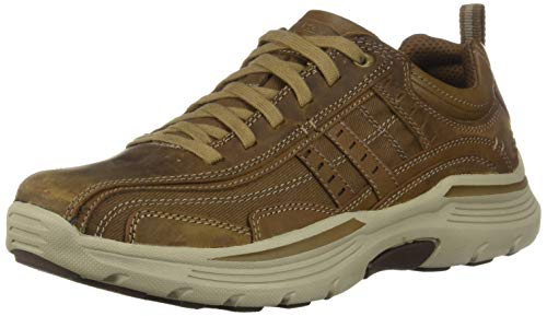 Skechers Men's EXPENDED-MANDEN Leather LACE UP Oxford, DSCH, 8.5 Medium US