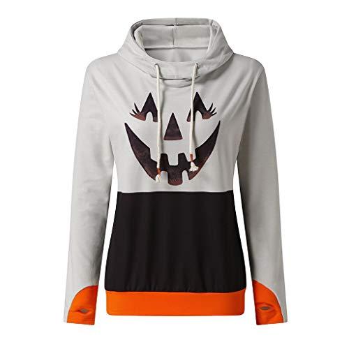 TWIFER Damen Pullover mit Kapuze Halloween Kordelzutwiferoodie Sweatshirt Kapuzenpullover