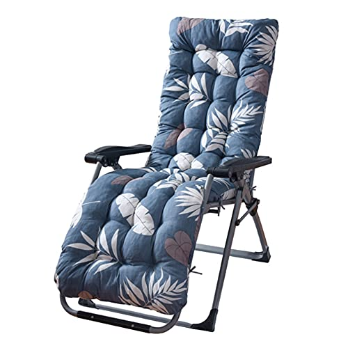 DERGH Sun Lounger Cushions Only Thick Sun Lounger Cushion Pads Garden Recliner Chair Cushions Outdoor Replacement Sunbed Cushion Covers Replacement for Indoor Outdoor(170*53*8cm)