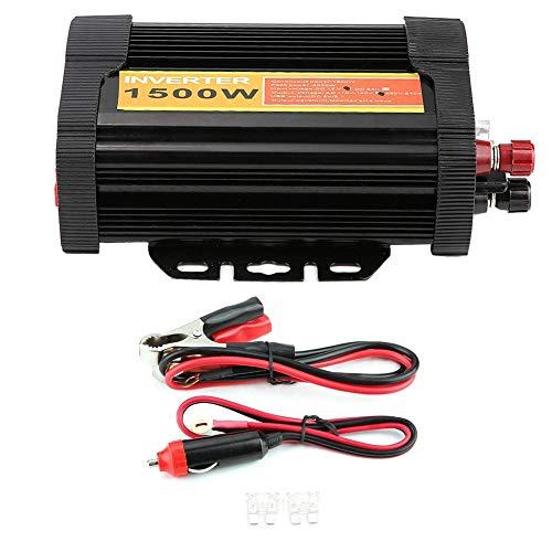 J-Love Inversor de Corriente del Coche, Adaptador del vehículo 12V DC a 110V AC 1500W Transformador de Voltaje automático del Coche Convertidor del inversor Carga del Coche