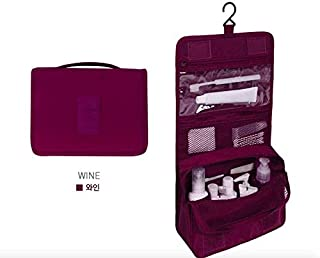 Hanging Toiletry Bag, Multifunction Travel Organizer For Men & Women, Simplicity and Stylish Waterproof Cosmetic pouch (Wine Red )by Cloudin.