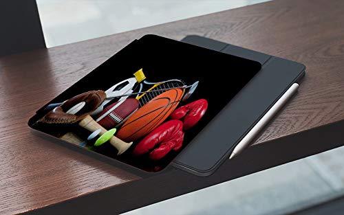 MEMETARO Funda para iPad 10.2 Pulgadas,2019/2020 Modelo, 7ª / 8ª generación,Boxeo Equipamiento Deportivo Baloncesto Béisbol, Smart Leather Stand Cover with Auto Wake/Sleep